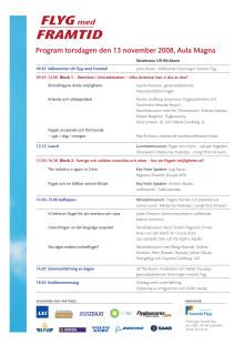 Program Flyg med Framtid 13 november