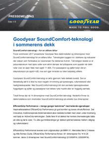 Goodyear SoundComfort-teknologi i sommerens dekk