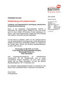 Einladung Unterzeichnung Notrufvereinbarung