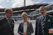 Annika Strandhäll gör sitt första besök som idrottsminister under EM i Ridsport