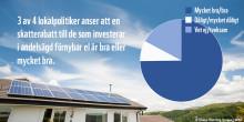 Starkt politiskt stöd för skatterabatterad grön el