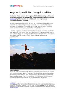 Yoga och meditation i magiska miljöer
