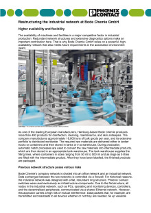 Restructuring the industrial network at Bode Chemie GmbH