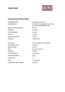 Projektdatenblatt Axel-Springer-Neubau Berlin