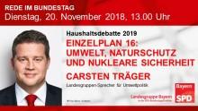 Carsten Träger in der Haushaltsdebatte 2019