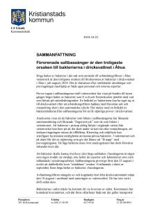 C4 Tekniks sammanfattning av vattenproblemen i Åhus 2010