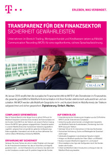 Der Mobile Communication Recording-Produktflyer der Deutschen Telekom