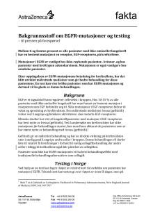 Bakgrunnsstoff om EGFR-mutasjoner og testing