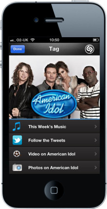 AMERICAN IDOL Episodes are Shazam-Enabled