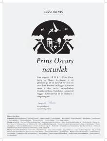 Gåvobrev till prins Oscar