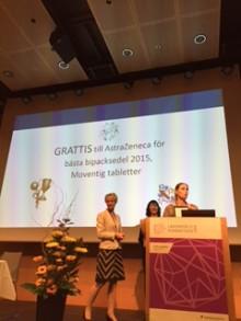 Moventig, AstraZeneca får priset för Bästa bipacksedel 2015
