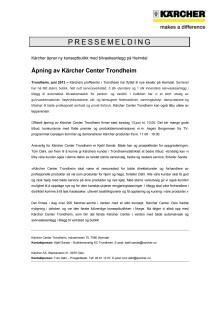 Pressemelding KC Trondheim PDF