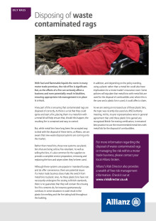 Motor newsletter March 2015 - safe contaminated waste disposal