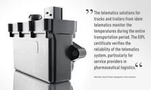 Telematic and pharmaceutical certification in one step:  idem telematics enables quality according to GDP