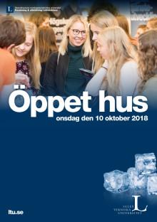 Program - öppet hus 10 oktober