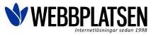 WebbPlatsen logo med slogan