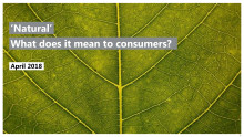 Natural - What does it mean to consumers?