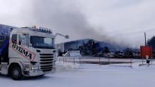 Bygma Umeå redan igång med verksamheten efter branden