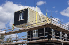 BoKlok lägenheter lyfts på plats i Trädgårdsstaden