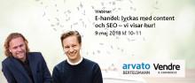Webinar: E-handel: lyckas med content och SEO – vi visar hur!