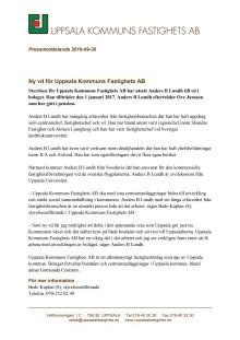 Pressmeddelande: Ny vd för Uppsala Kommuns Fastighets AB