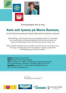 Inbjudan till föreläsningen med Maria Åsenius.