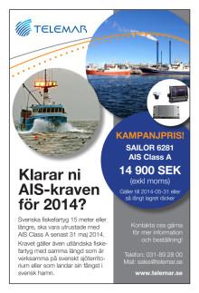 Kampanj på AIS för säkerhet till sjöss