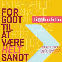 Timbuktu Fondens analyse af finanslovsforslaget for 2018