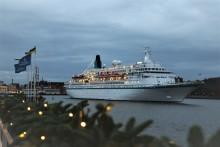 Årets sista kryssningsfartyg anlöpte Göteborgs hamn