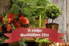 Blomsterlandet stödjer Musikhjälpen - var med och buda