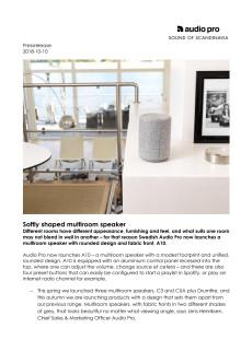 Softly shaped multiroom speaker - Audio Pro A10