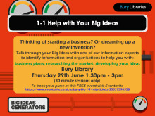 One-to-one help with your Big Ideas