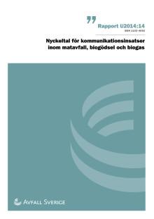 Nyckeltal för kommunikationsinsatser inom matavfall, biogas och biogödsel