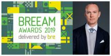 """BREEAM Awards 2019  """"Att vara nominerad är bra, men vi hoppas så klart på vinst"""""""