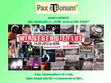 """Die Initiative """"WIR gegen die Flut"""" wird vom Pax et Bonum Verlag begleitet."""