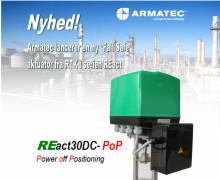 """Armatec lancerer ny """"Fail Safe""""-aktuator fra RTK i serien REact"""