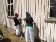 Byggnadsvårdsläger för ensamkommande ungdomar