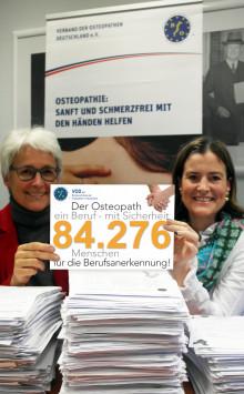 Viele Prominente dabei – Riesige Unterstützung für Unterschriftenkampagne der Osteopathen / VOD: Übergabe am Montag an Bundesgesundheitsminister Gröhe