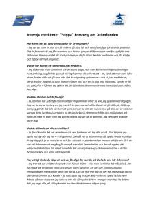ATG Drömfonden - intervju Peter Forsberg