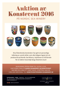 Konstauktion på Nordic Sea Winery i Simrishamn