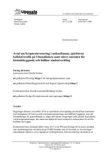 Avtal om fyrspårsinvestering, m m.