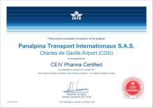 Panalpina obtient la certification CEIV Pharma, référence mondiale de la Supply Chain
