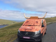 Coo Van on the mooooove in Shetland