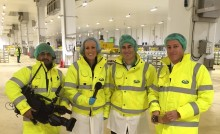Breakfast TV show hosted live from Arla's Aylesbury fresh milk facility