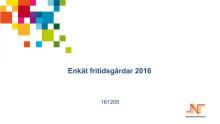 Enkät - fritidsgårdar 2016