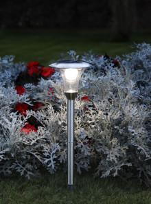 Solcellsladdad gånglampa med ljus- & rörelsesensor