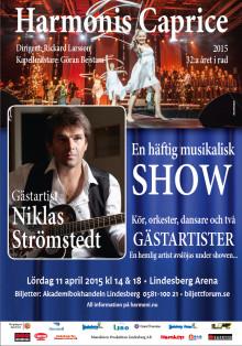Niklas Strömstedt gäst på Harmonis Caprice i Lindesberg