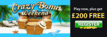 Join LuckyWinSlots.com for a Crazy Bonus Weekend!