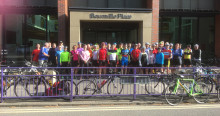 40 cyclists, 200km and 400 hours all for local charities!