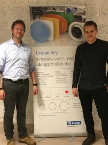 Lindab har ansatt nye salgsingeniører ved avdeling Bergen og Trondheim